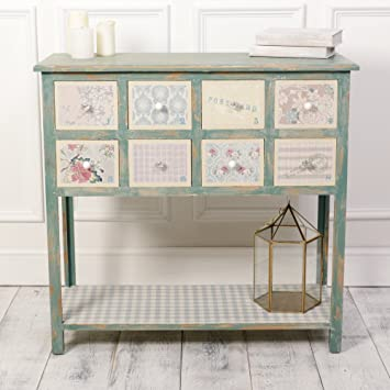 Shabby Chic Decorative Patchwork Wooden Console Table Fabulous