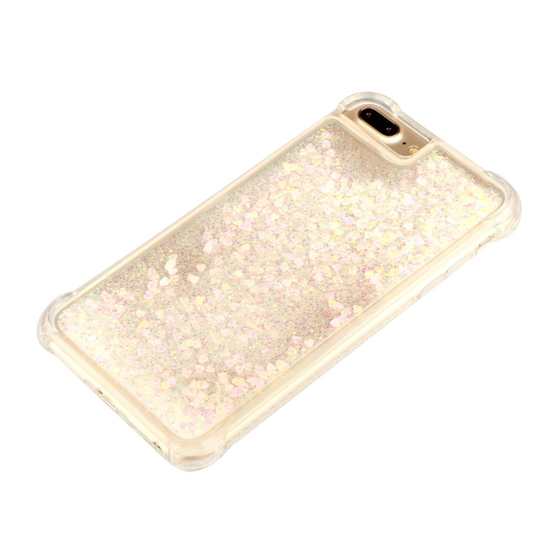 5,5 Zoll iPhone 7 Plus iPhone 8 Plus Schutzh/ülle Sto/ßfest Kratzfest Handyh/ülle Case f/ür Apple iPhone 7Plus//8Plus H/ülle Glitzer Fl/üssig Silikon // Lomogo - YIBO35369 Gold