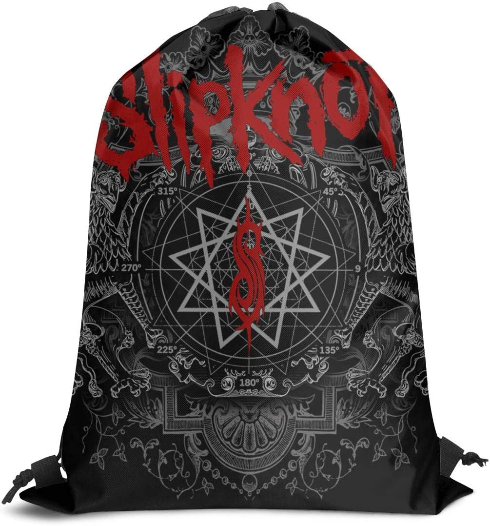 Drawstring Backpack Adjustable Gym Sack Bag Slipknot-zombie