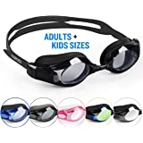 COPOZZ Swimming Goggles Come With Oversized Double Anti-Fog Mirrored Lenses And 3D Silicone Seals Giving Swimmers Crystal Clear Vision And No Leaking, Suitable for Adults Men Women and Kids 10+, Multicolor