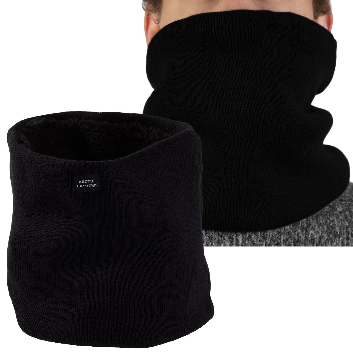 2 Pack Cold Weather Gear Winter Fleece Lined Neck Warmers Extreme Thick Thermal