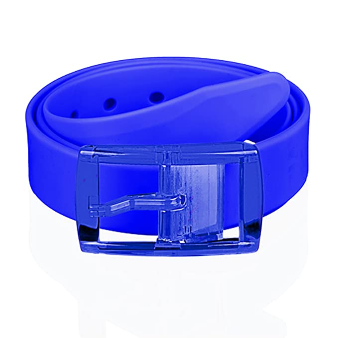 f37f1ec2cc510c Taffstyle® Unisex Silikon Neon Gürtel kürzbar One Size für Damen / Herren -  Blau