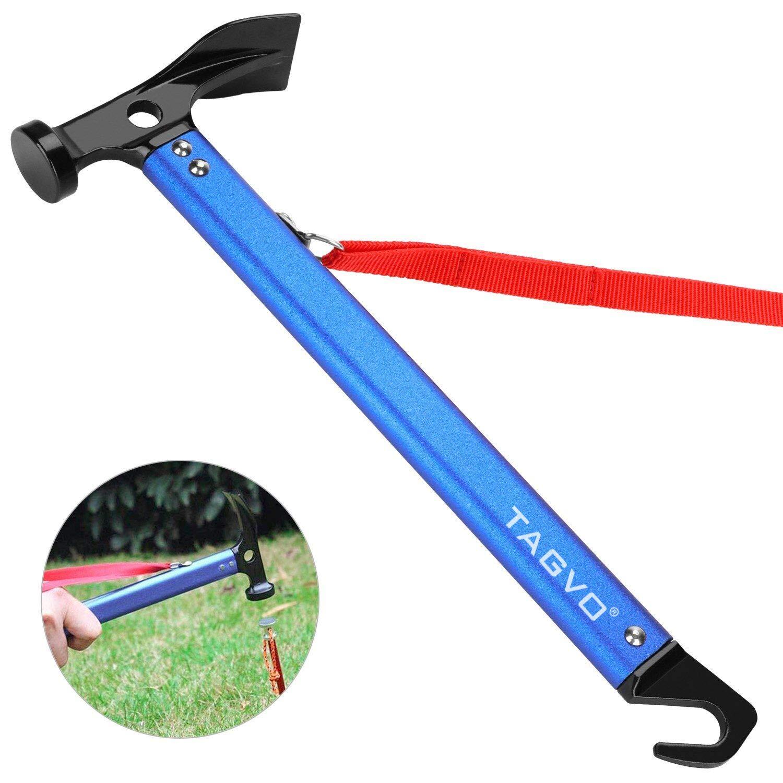 1×High-carbon Steel Shaft Mallet Hammer Tent Peg Stake Puller Camping Hiking UK