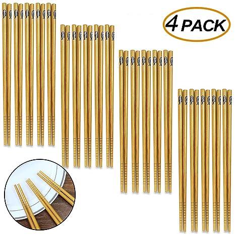 Amazon.com: Canflo - Palillos de bambú reutilizables (20 ...