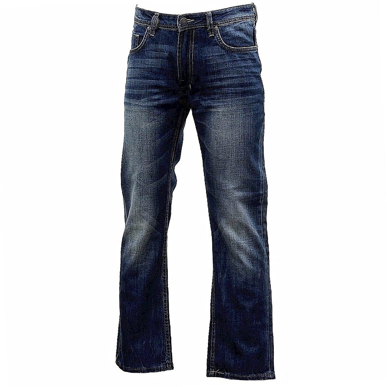 Buffalo David Bitton Men's Driven Straight-Leg Jean in Vintage and Worn Wash