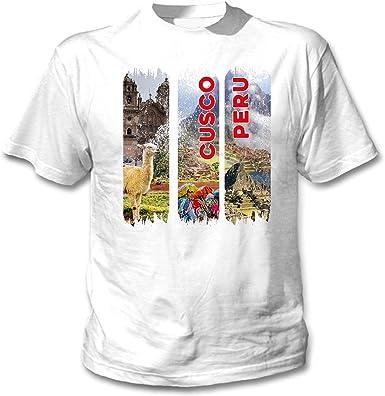 teesquare1st Cusco Peru Camiseta Blanca para Hombre de Algodon: Amazon.es: Ropa y accesorios