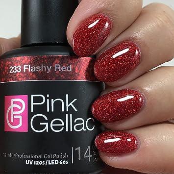 Fonkelnieuw Amazon.com : Pink Gellac UV Nail Varnish 233 Flashy Red TC-09