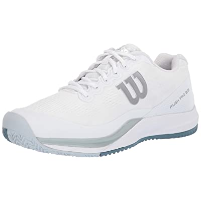 Wilson RUSH PRO 3.0 Tennis Shoes, White/Pearl Blue/Bluestone, 13 | Tennis & Racquet Sports