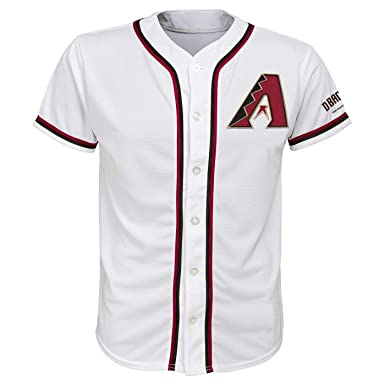 1bc75ec871a3 Arizona Diamondbacks White Youth Team Apparel Home Jersey (Small 6 7)