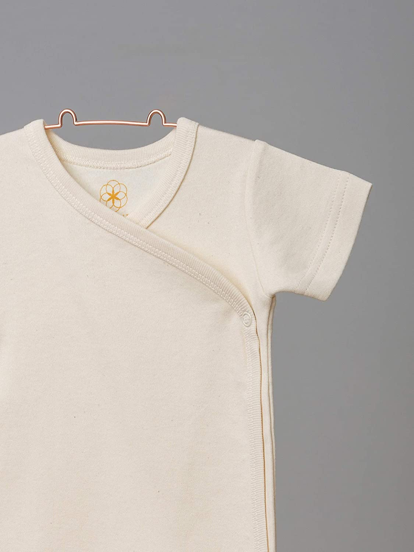 certificato GOTS a maniche corte in cotone biologico bellezza Organic by Feldman colore naturale Body da neonato