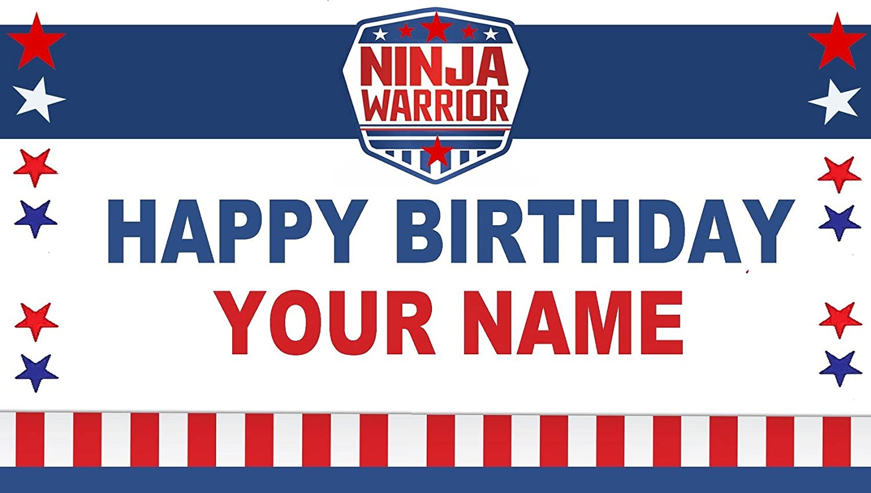 Amazon.com: Ninja Warrior Sport Custom Birthday Banner ...