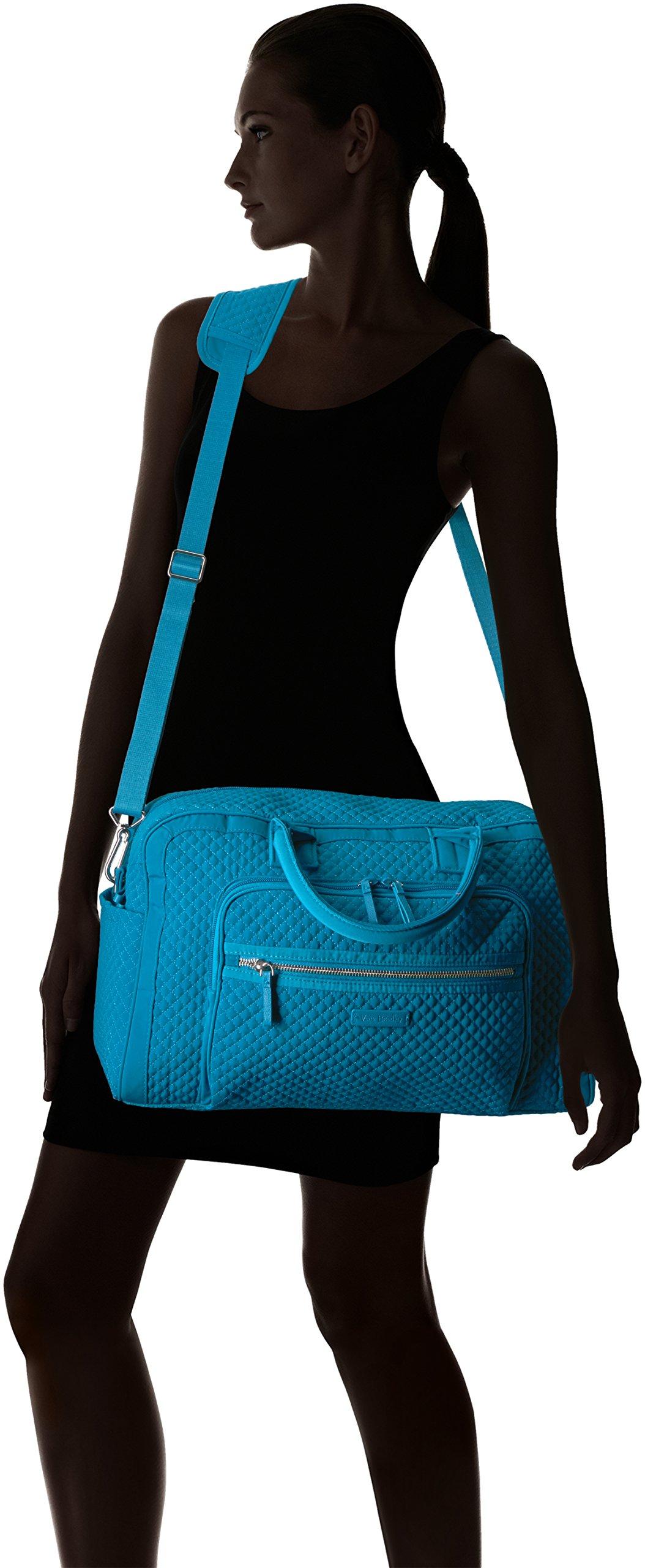 Vera Bradley Women's Iconic Compact Weekender Travel Bag Vera, Bahama Bay by Vera Bradley (Image #6)