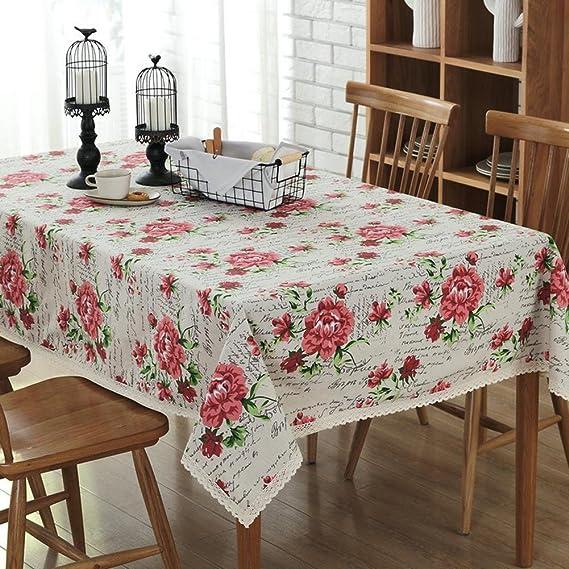 Europea clásica rosa manteles de impresión de algodón y ropa de ...