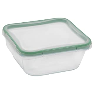 Snapware 4-Cup Total Solution Square Food Storage Container, Glass