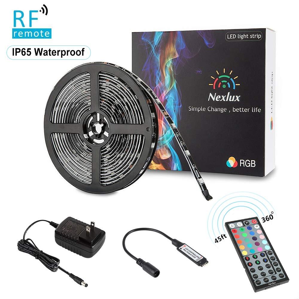 Nexlux Led Strip Lights, 16.4ft Waterproof IP65 5050 SMD RGB LED Flexible Strip Lights