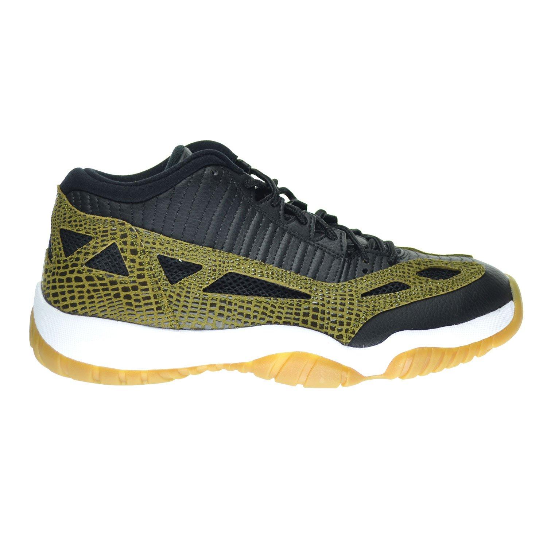 Jordan Air 11 Retro Low IE Croc Men s Shoes Black Military Green Gum Yellow Infrared 23 306008-013