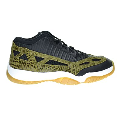 55fce7b9afee4b Jordan Air 11 Retro Low IE Croc Men s Shoes Black Military Green Gum Yellow