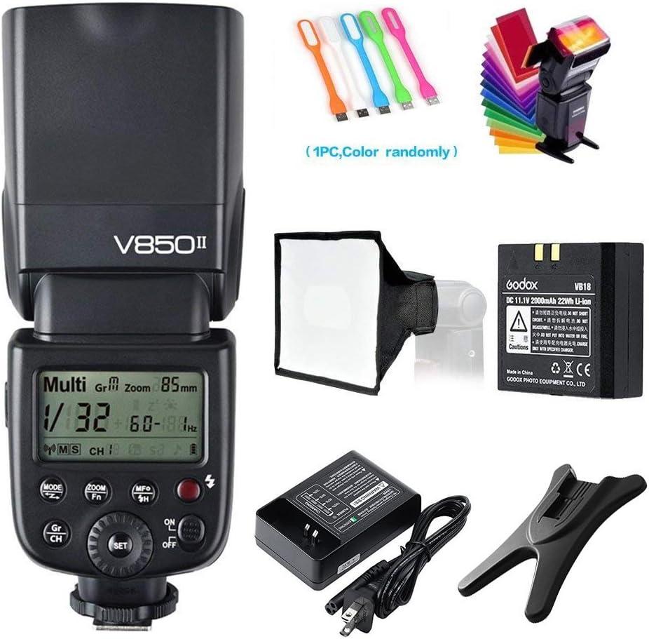Godox Ving V850II 2.4G HSS 1//8000s GN60 Li-ion Camera Flash Speedlight Master//Slave for Canon Nikon Pentax Olympus