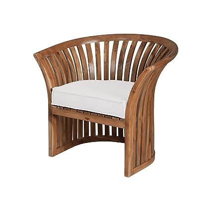 Miraculous Amazon Com Guild Master 2317003Wo Teak Barrel Chair Andrewgaddart Wooden Chair Designs For Living Room Andrewgaddartcom