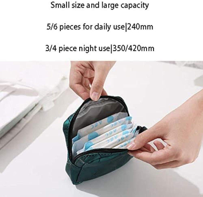 monedero color gris Liyaya Bolsa de compresas para mujer monedero con cremallera para mujeres y ni/ñas