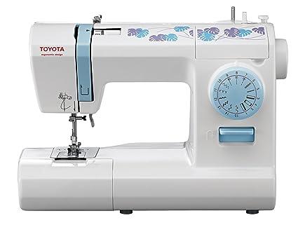 Toyota ECO15CB - Máquina de coser, 65 W, 15 programas, color blanco y