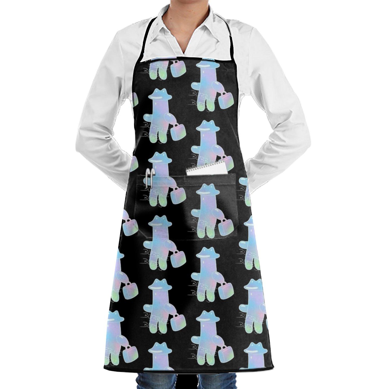 shuangrendeカスタムスカルFun色調節可能なポケット付き料理キッチンよだれかけエプロンレディースメンズのシェフ One Size ホワイト  Go Shopping14 B07FVQRQC5