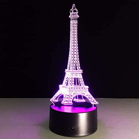 Lights & Lighting Eiffel Creative Lamp 7 Color Changing 3d Optical Illusion Led Night Lights Desk Lamp Gift To The Children And Toys Acrylic Lamp