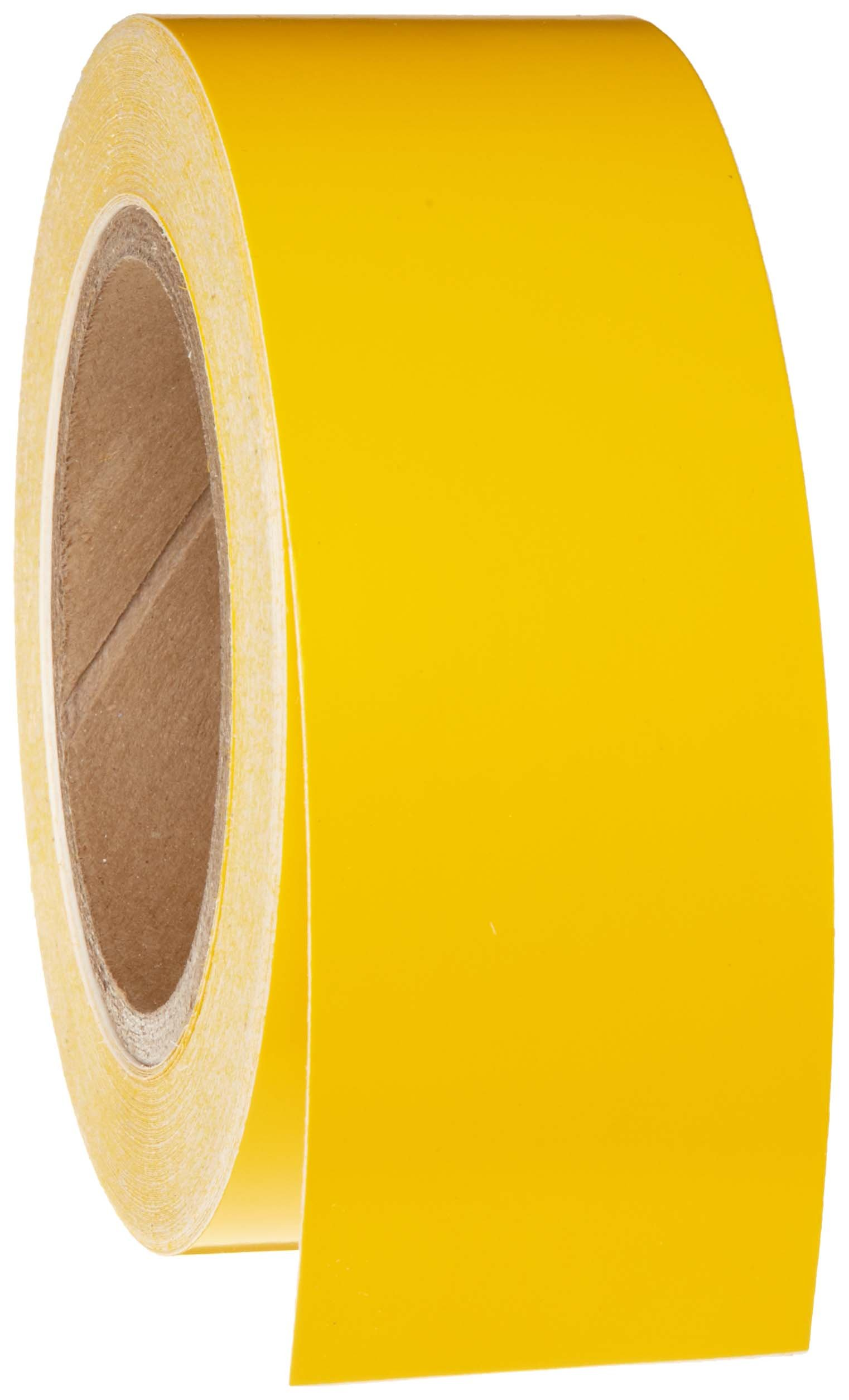 Brady 55260 Length, 2'' Width, B-946 High Performance Vinyl 90' Yellow Color Pipe Banding Tape