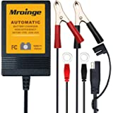 Mroinge MBC010 Automotive Trickle Maintainer 12V 1A Smart Automatic Battery Charger for Car Motorcycle Boat Lawn Mower…