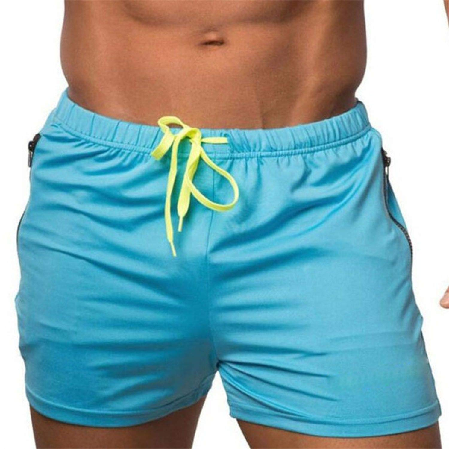 haode Fashionable Vigor Fitness Territory Sports Shorts Mens Summer Fast Dry Fitness Pants Mens Swimming Trunks Beach Pants