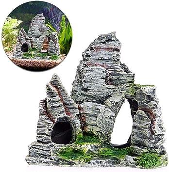 Ruiting Aquarium Deko Simuliert Stein Steingarten Aqua Ornaments 11 5 5 9 5cm 1 Stuck Amazon De Haustier