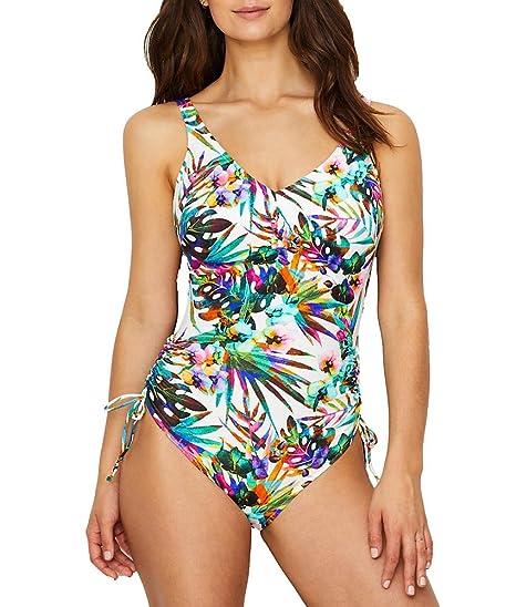 528c67fd89d06 Fantasie Swim Margarita Island UW V-Neck Adjustable Leg Swimsuit (34F,  Multi)