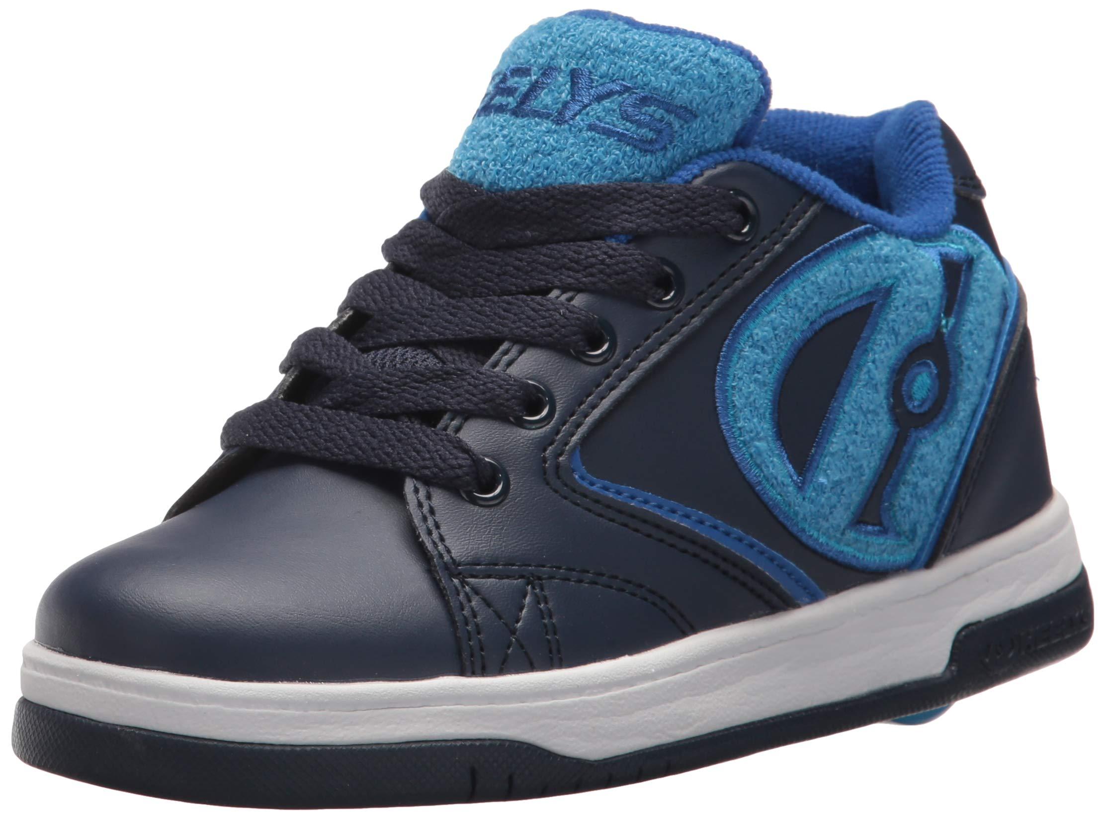 Heelys Boys' Propel Terry Tennis Shoe, Navy/Blue, 6 M US Big Kid