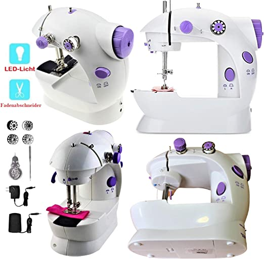 Opinión sobre Uni.AT - Máquina de coser eléctrica para niños (mini portátil, con pedal, doble hilo)