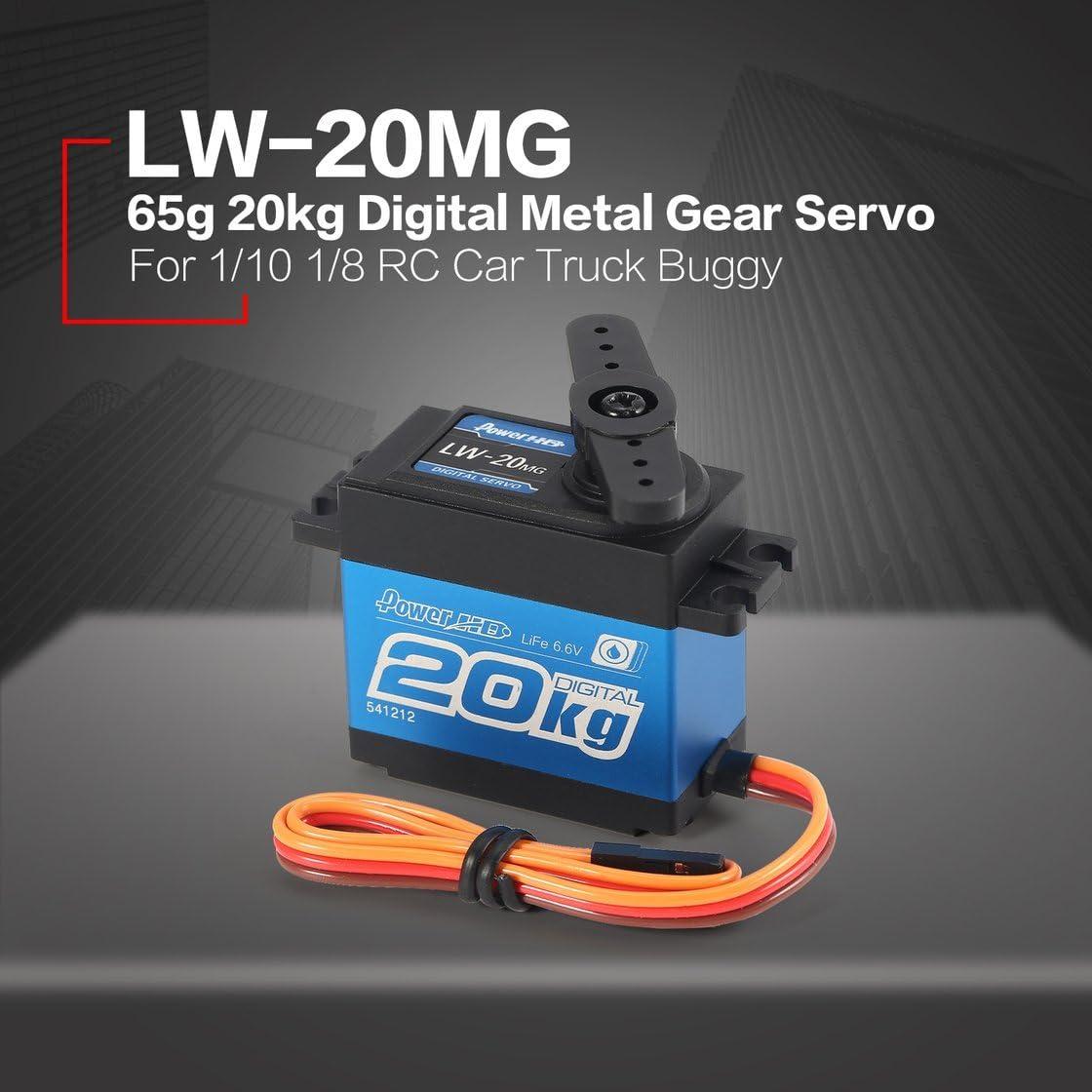 Gwendoll LW-20MG 65g 6.6V servo de Vitesse en m/étal num/érique /étanche servo de 20kg pour RC 1//10 1//8 Camion de Buggy de Voiture Hors Route