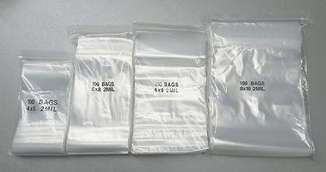 ACE 400 bolsas de cierre de cremallera surtido 4 tamaños 4 X ...