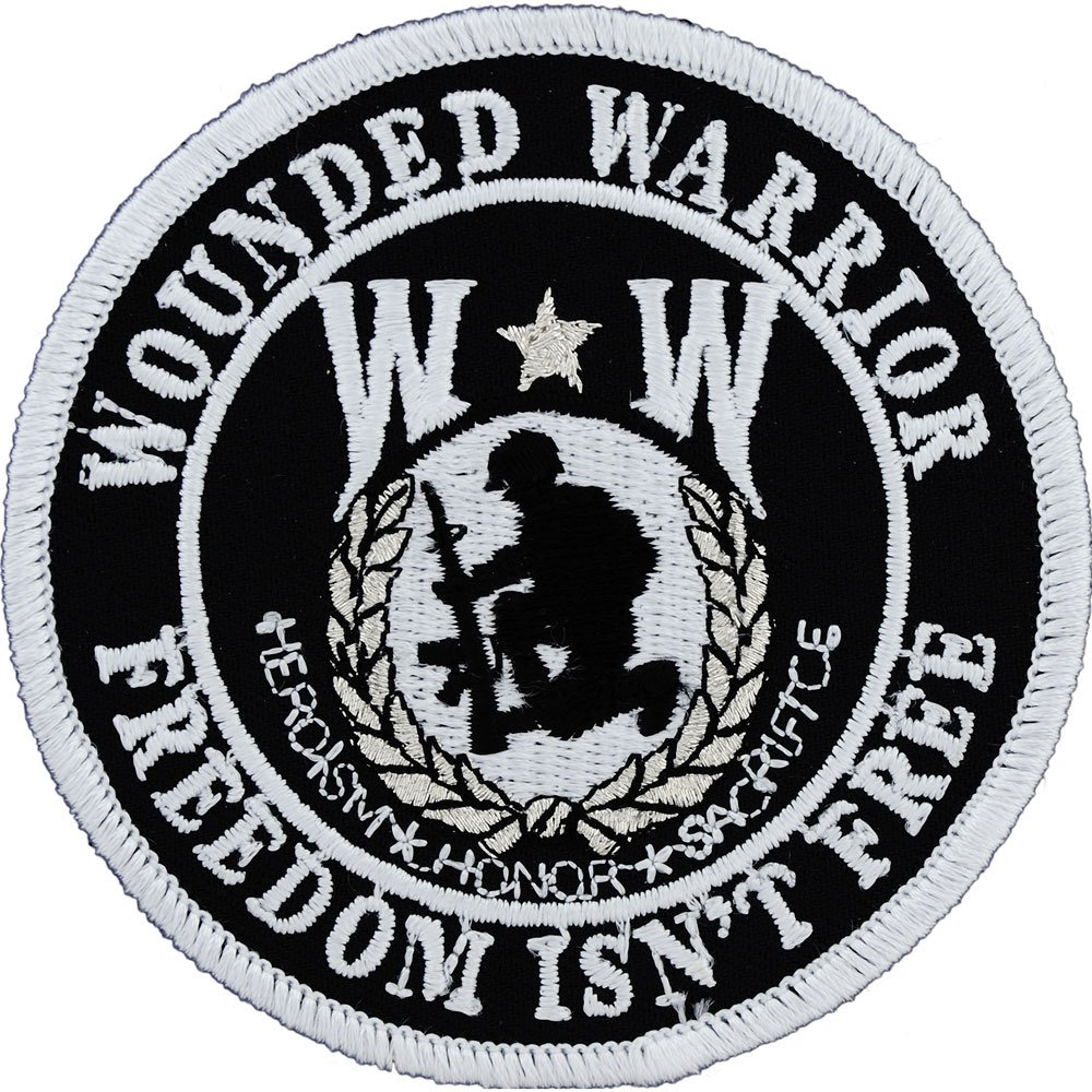Wounded Warrior Shield Round Patch Military Gifts Patches for Jackets Hats Vests EE