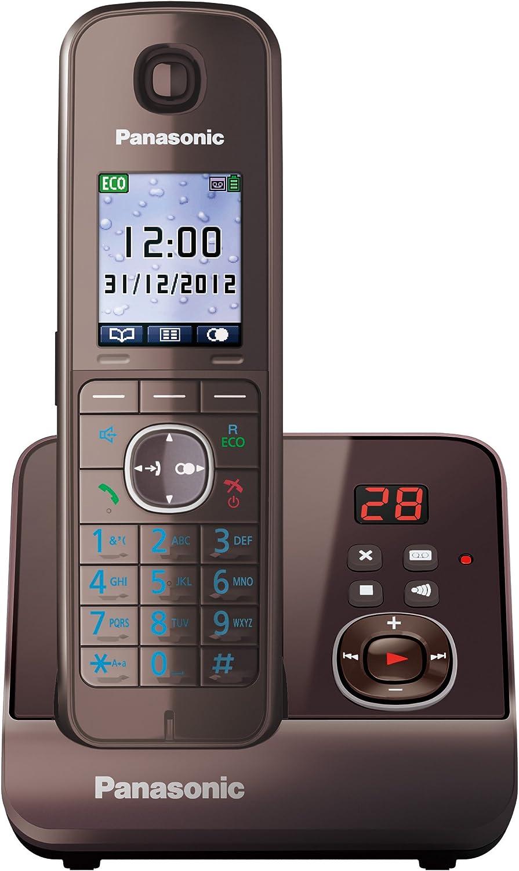 Panasonic KX-TG8161GA - Teléfono inalámbrico con contestador automático (pantalla de 4,6 cm, 1,8