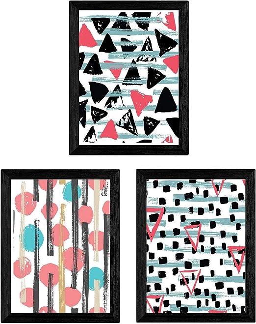 Pack de Tres láminas tamaño A3 Estampadas. con Marco. Posters para ...