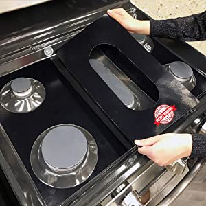 GE Stove Protector Liners - Stove Top Protector for GE Gas Ranges - Customized - Easy Cleaning Stove Liners for GE Model JGBS66REK1SS