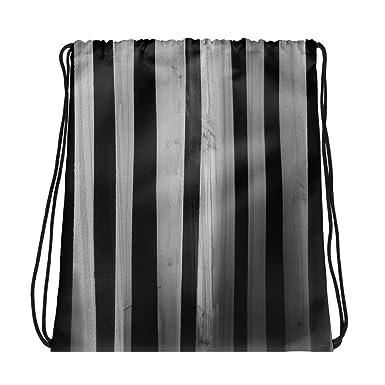 The Asylum Emporium Striped Asylum Wallpaper - Drawstring Bag