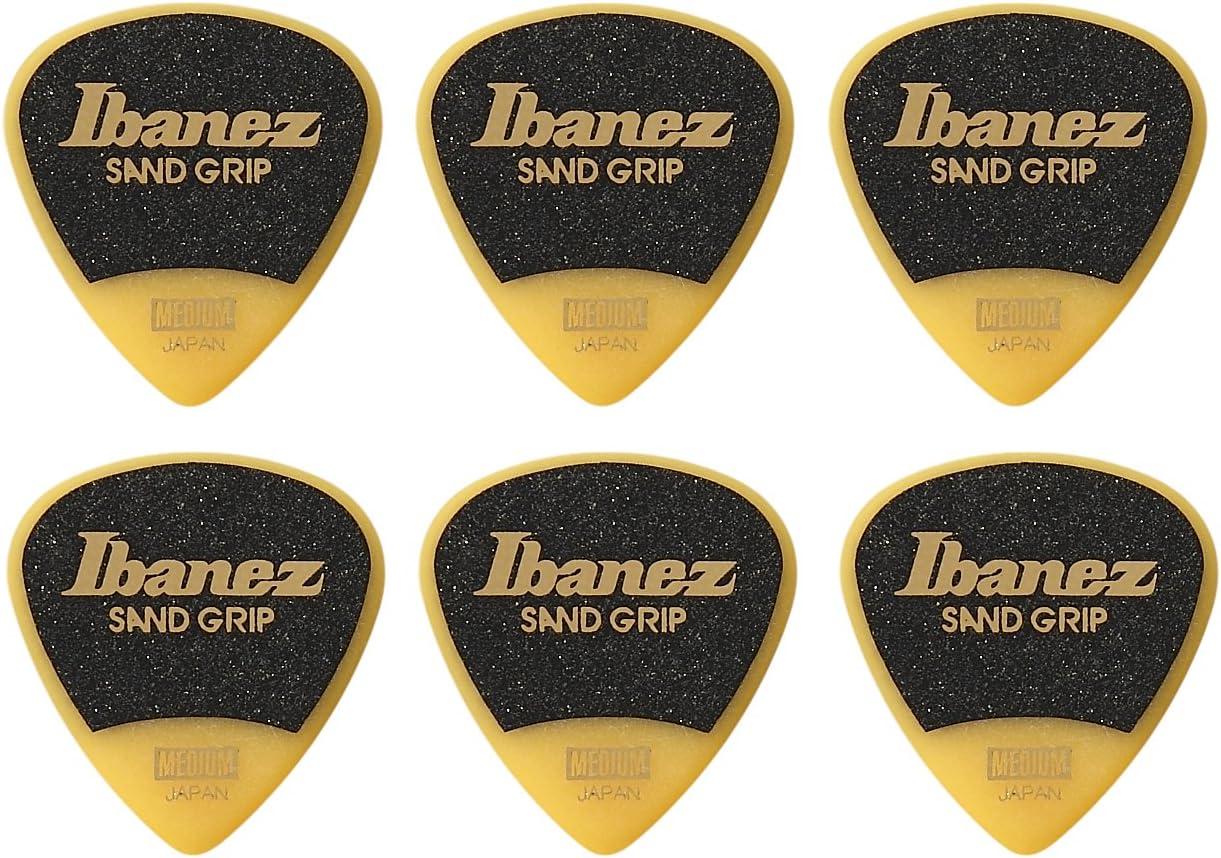 Ibanez ppa16hsgye asistente serie, arena Grip Púas 6unidades, 1,0mm), color amarillo