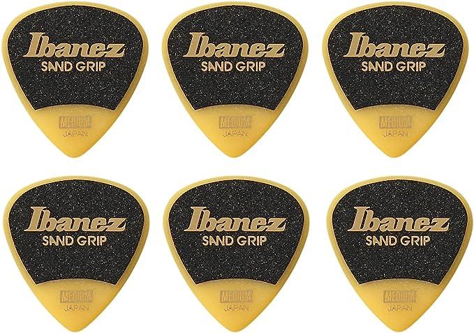 Ibanez ppa16hsgye asistente serie, arena Grip Púas 6 unidades, 1,0 mm), color amarillo