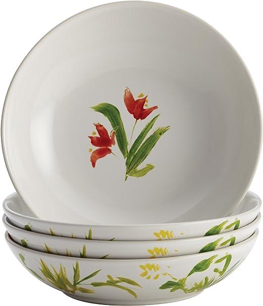 Print Meyer 50198 BonJour Dinnerware Meadow Rooster Stoneware 4-Piece Fruit Bowl Set