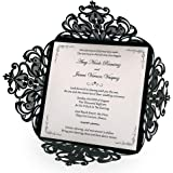 Amazon 100 wedding invitations black white gothic style elegant doris home wedding invitations wedding invites invitations cards wedding invitations kit square black laser cut filmwisefo