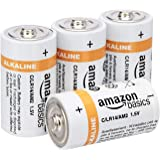 AmazonBasics C Cell Everyday 1.5 Volt Alkaline Batteries - Pack of 4
