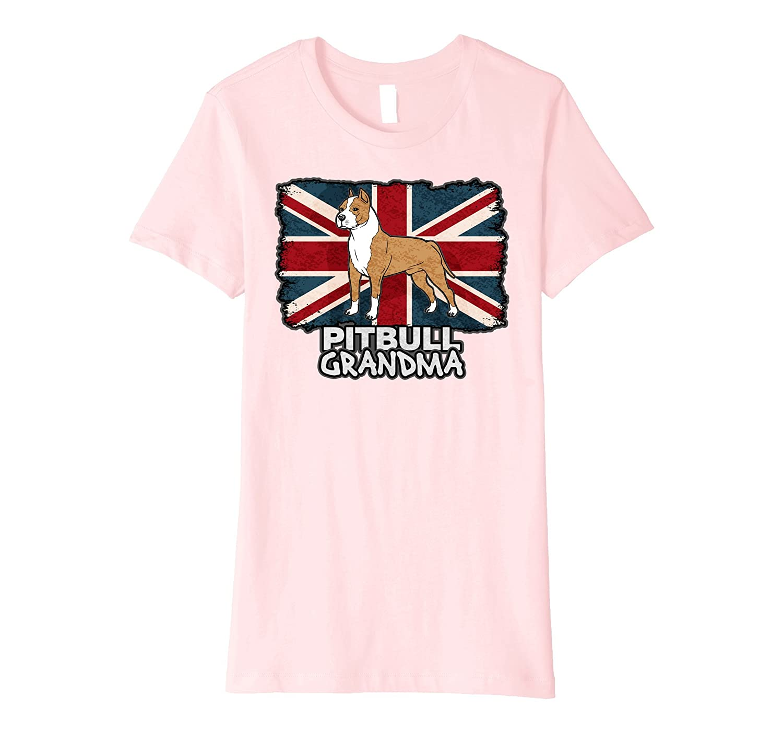 Patriotic Pit Bull Grandma Dog Union Flag T-shirt-Teevkd
