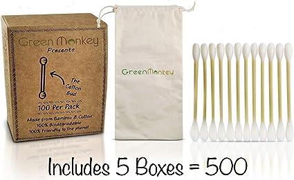 Biodegradable eco amigable orgánico madera bambú algodón yemas ...