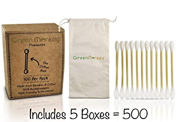 Alyn Bamboo Cotton Wool Buds Free E Book Sustainable /& Vegan Qtips 200 Pieces Plastic Free Environmentally Clean Packaging Pack of 1 | 100/% Biodegradable Organic Wooden Ear Swabs