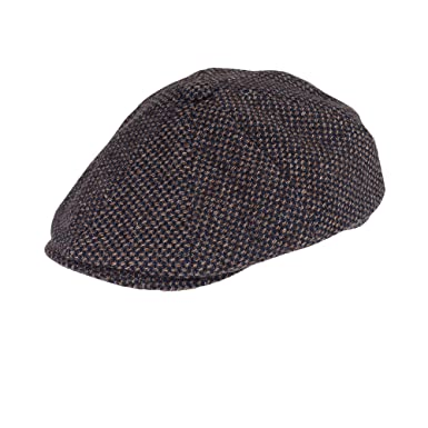e0bc1e43 Men's Baker Boy Hat In Brown Tweed newsboy Cap Warm Winter Driving Classic  8 Panel Hat